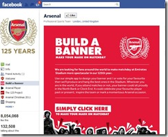 Arsenal Build a Banner on facebook