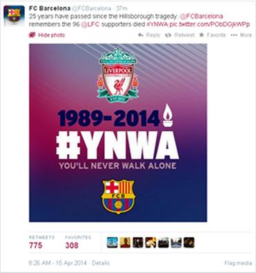 Barcelona Liverpool 96 Tweet