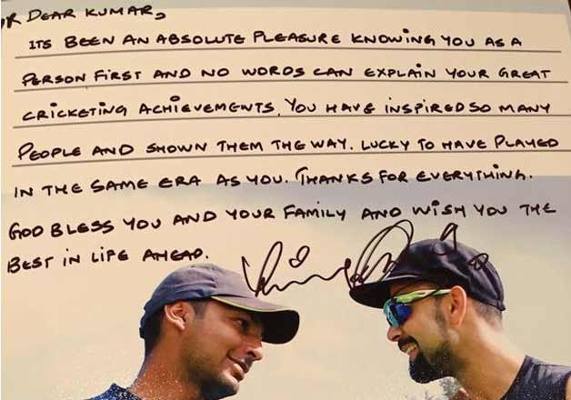 Letter from Indian captain to Sri Lankan opponent
