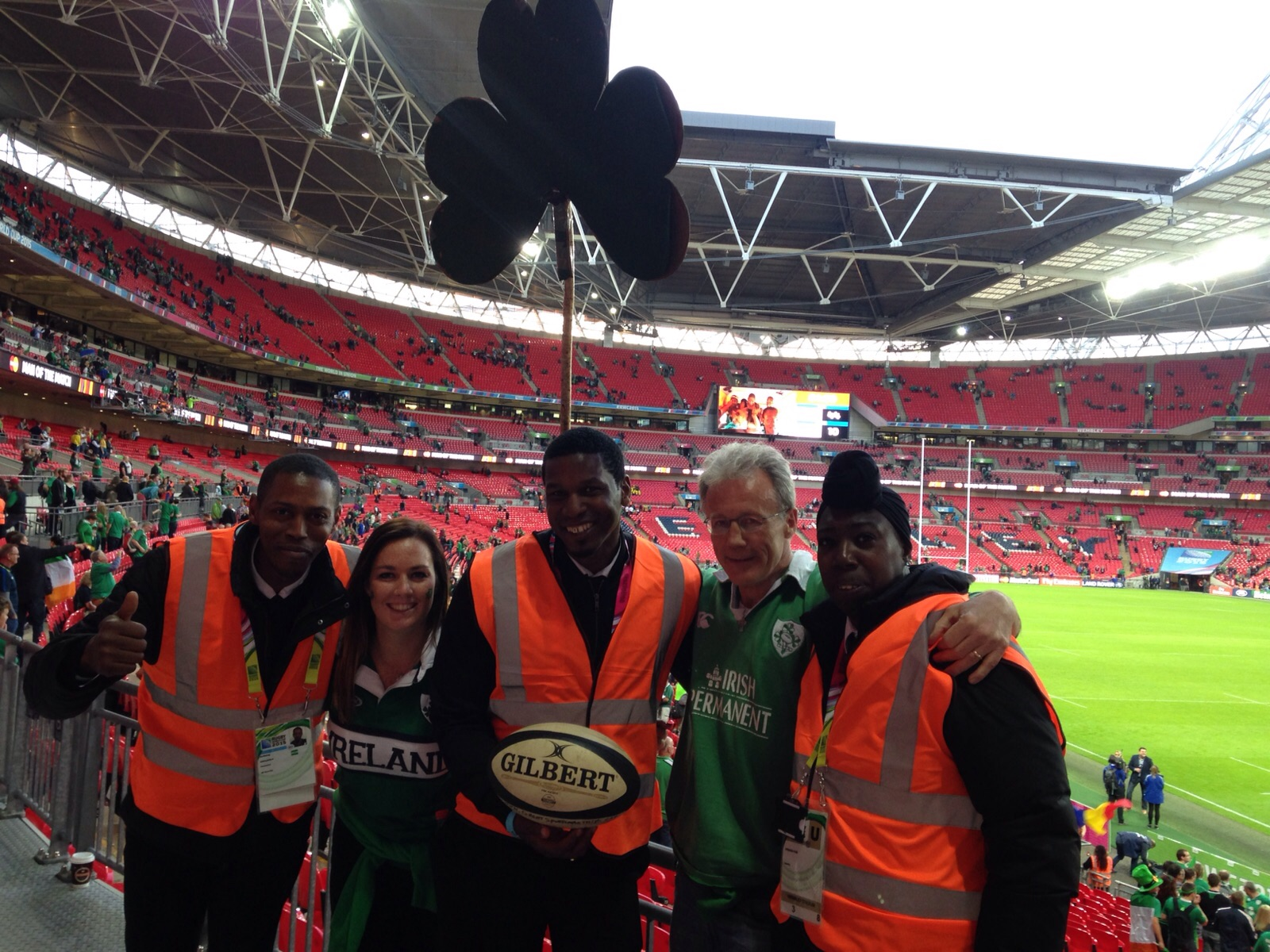 Friendly staff at Wembley - great atmosphere building