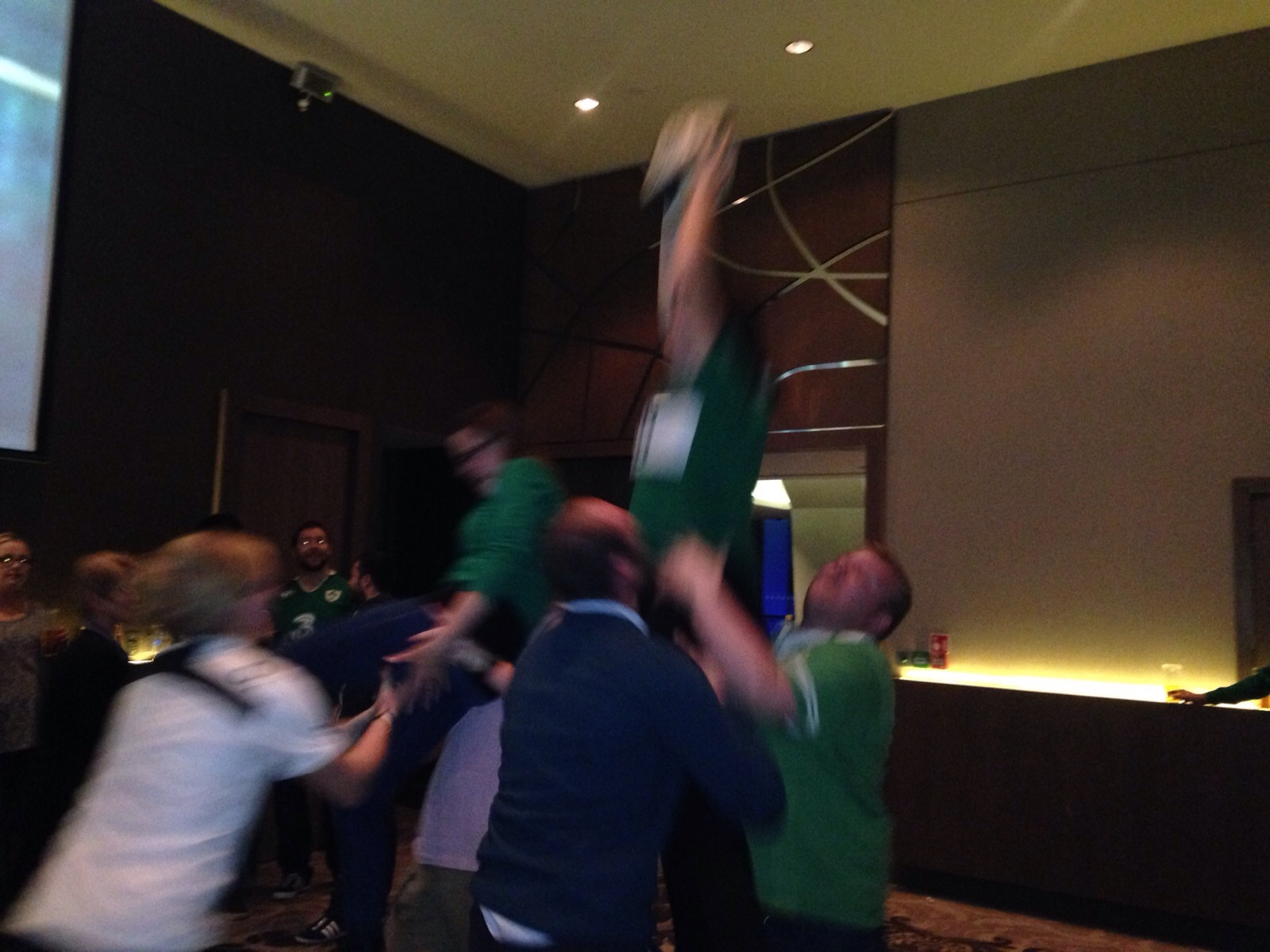 Line Outs Jumping inside hotel
