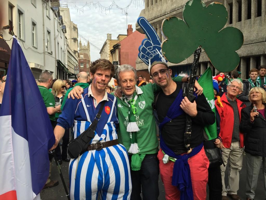 2 French Fans 1 RWC2015