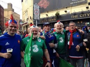 2 French fans 2 Piggy irish