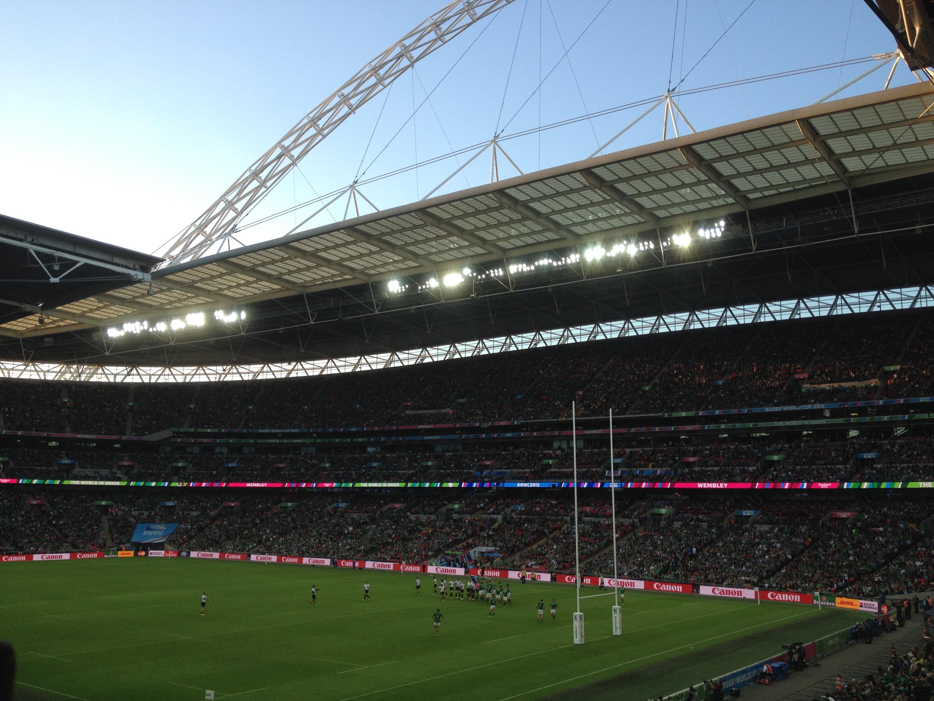 Ireland v Romania under the Wembley arch