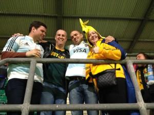 Argy Fans with Aussy fans