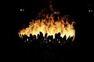 Photo of olympic flame