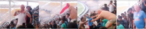 English cricket fan swaps shirt with Indian fan