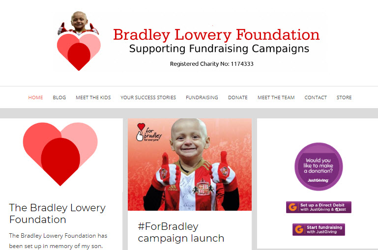 Bradley Lowery Foundation to help other children