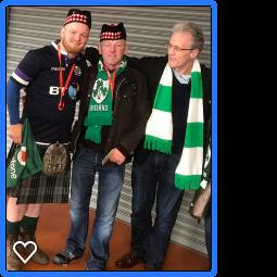 Irish and Scottish Fans celebrate together