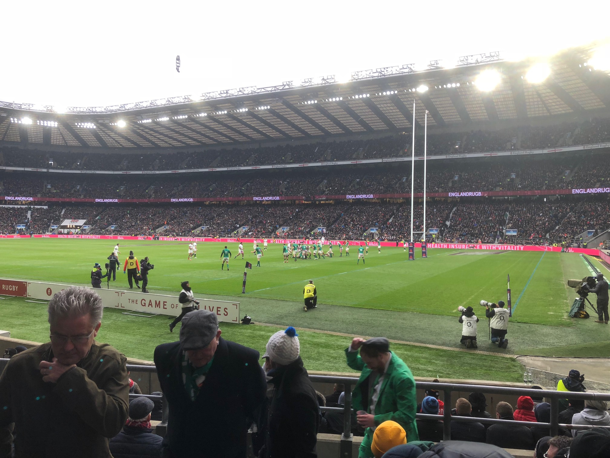 Ireland defend the try line