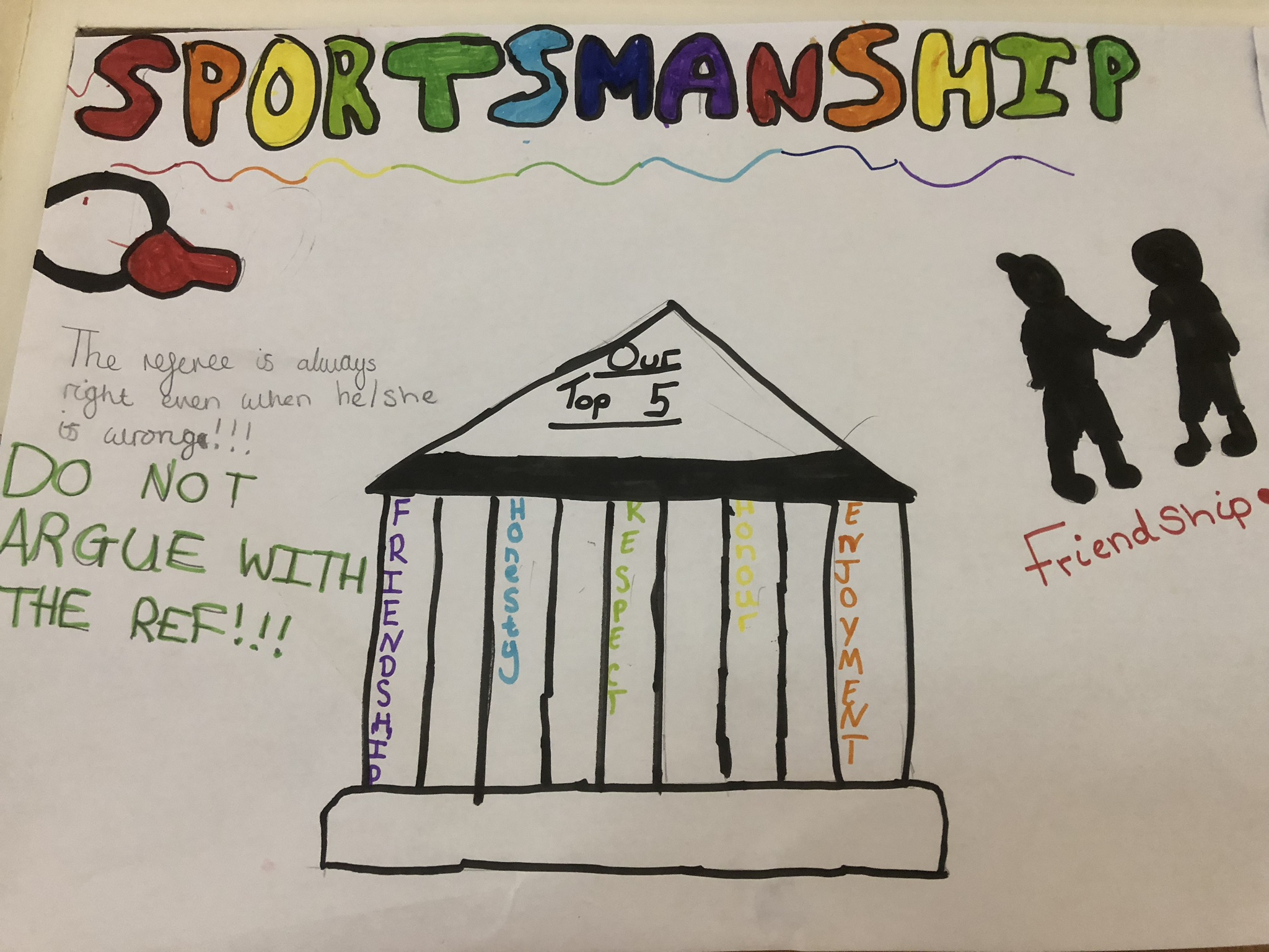 Sportsmanship Poster by a student at Hatfield Primary School